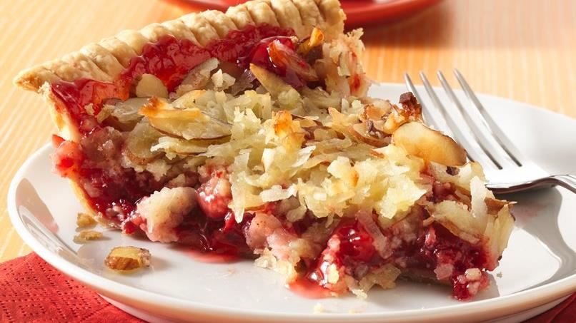 Almond Macaroon-Cherry Pie