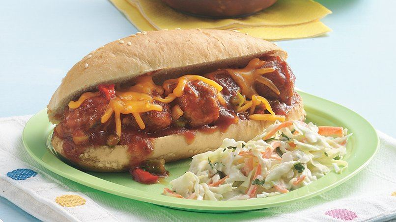 Honey Barbecue Meatball Sandwiches