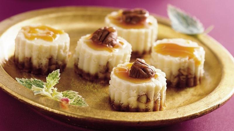 Caramel Pecan Cheesecake Bites
