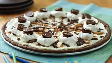 Chocolate Peanut Butter Cookie Pizza