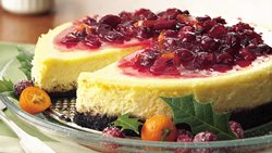 Cranberry-Orange Cheesecake