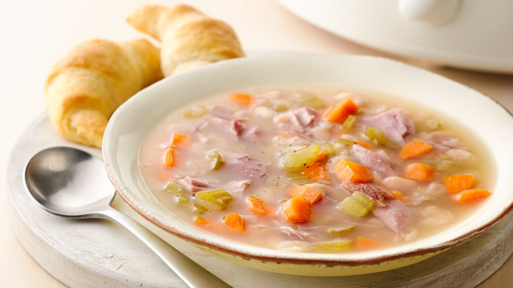 Easy Slow-Cooker Ham Bone Soup recipe from Pillsbury.com