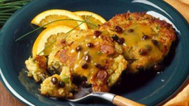 Couscous Patties with Citrus Sauce