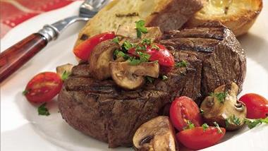 Grilled Garlic Mushrooms and Tomatoes