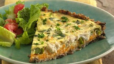 Mushroom-Crab-Asparagus Tart