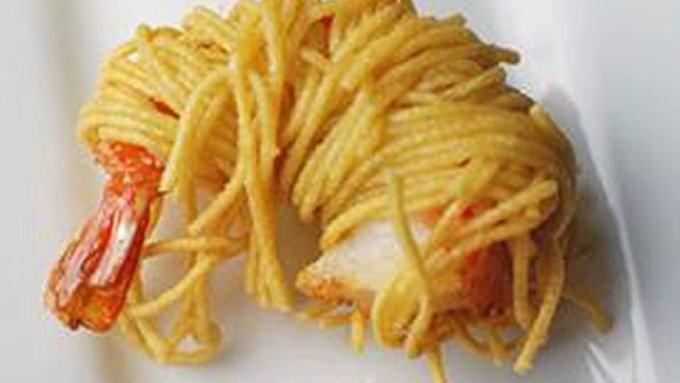 Shrimp Caught in Spaghetti Nets