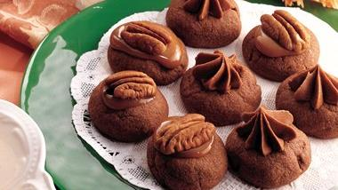 Filled Chocolate Thumbprints