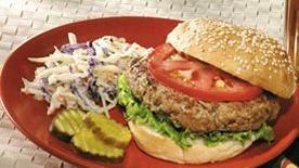 Turkey Burger with Garlic