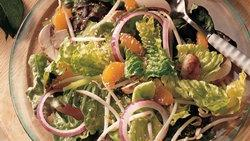 Tossed Greens with Sesame and Oranges