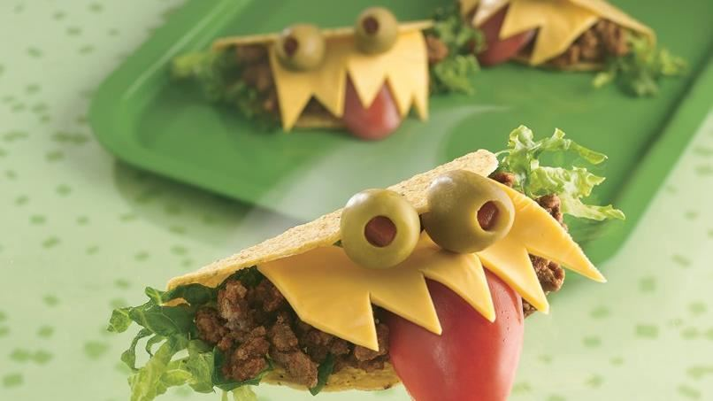 Halloween Monster-Mouth Tacos