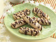 Chocolate-Drizzled Walnut Cookies