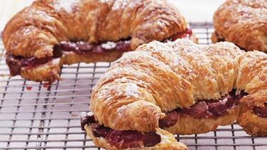 Chocolate Cherry Croissants