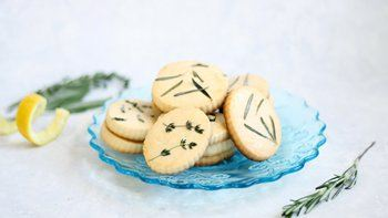 Easy Lemon Herb Shortbread Cookies