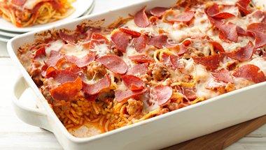 Pepperoni Pasta Casserole