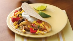 Steak Fajitas with Tomato-Corn Relish