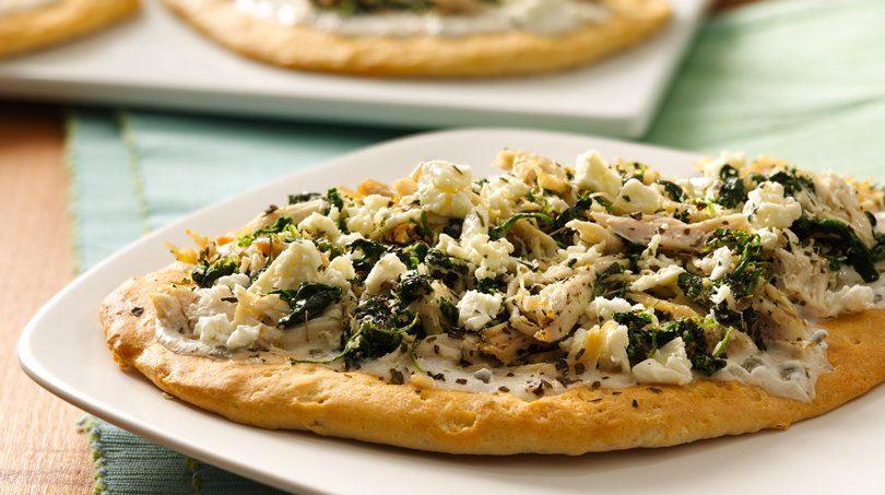 Naan Greek Pizza