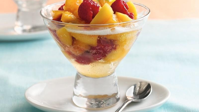 Peach-Berry Bellini Salad