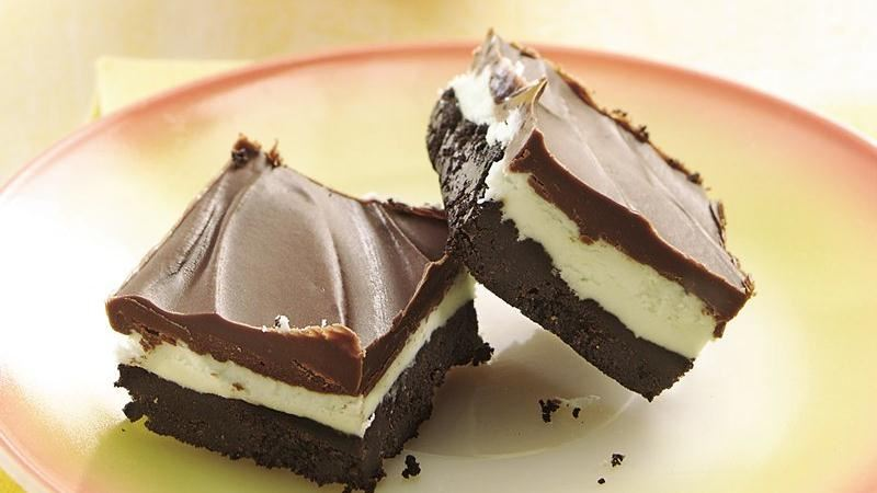 No-Bake Chocolate Mint Bars