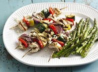 Grilled Mediterranean Chicken Vegetable Kabobs