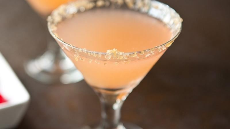 Pineapple Upside-Down Martinis