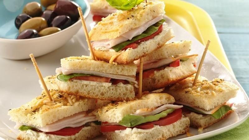 Mini Turkey Focaccia Sandwiches