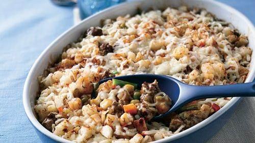 Loaded Roasted Potato Casserole recipe from Betty Crocker