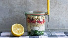 Layered Quinoa Chicken Salad