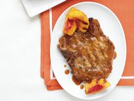 Grilled Peach Barbecue Pork Chops