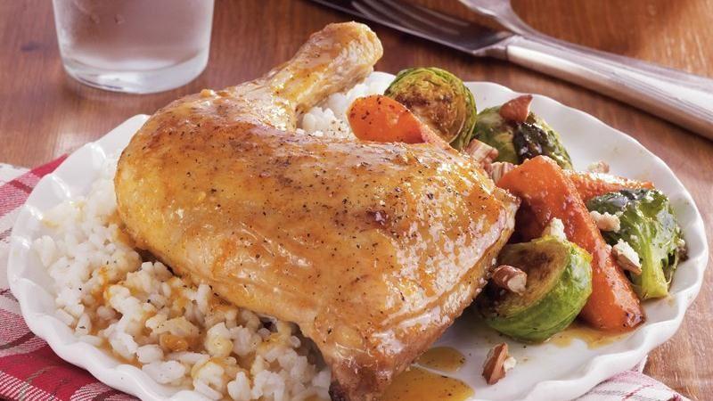 Orange-Maple Roast Chicken and Vegetables