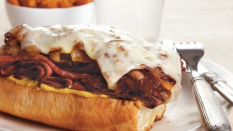 Roast Beef Sandwiches with Caramelized Onions