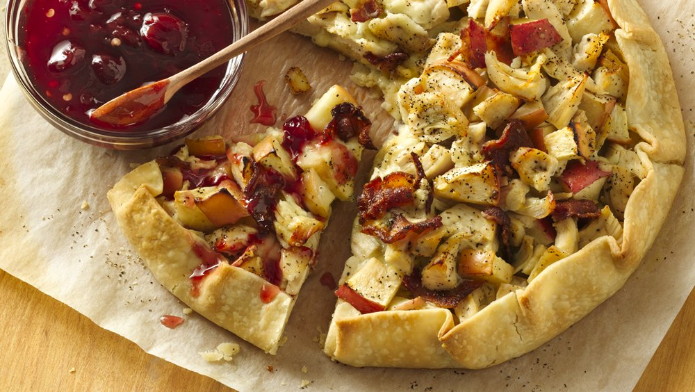 Chicken Blue Cheese Crostata with Spicy Tart Cherry Sauce