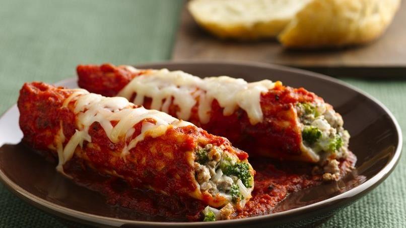 Turkey and Broccoli Manicotti