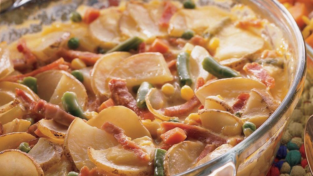 Easy Ham and Potatoes au Gratin