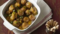 Slow-Cooker Curry-Mustard Glazed Meatballs