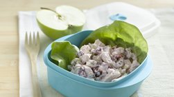 Cherry Chicken Salad in Lettuce Wraps