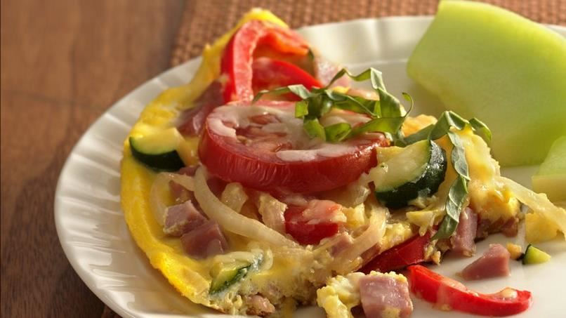 Ham, Vegetable and Cheese Frittata