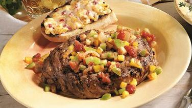 Rib-Eye Steaks with Smoky Tomato Salsa