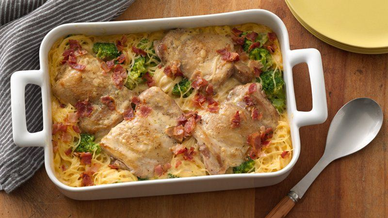 Smothered Chicken Casserole recipe from Betty Crocker