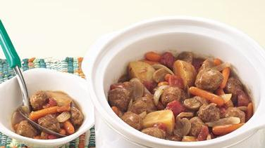 Slow-Cooked Meatball Stew