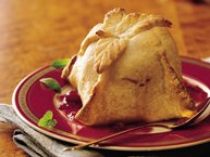 Cranberry Apple Dumplings with Crimson Sauce