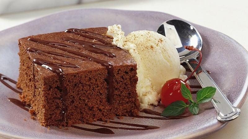 Chocolate-Cinnamon Sundae Cake (Cooking for 2)