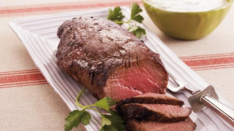 Beef Tenderloin with Horseradish Cream
