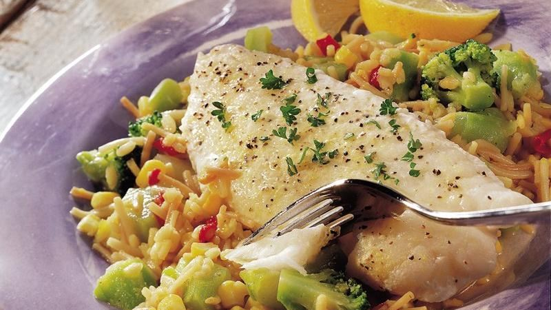 Fish and rice recipes easy
