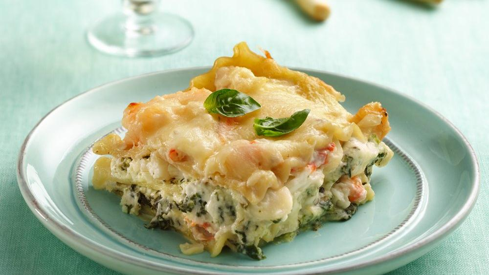 Seafood-Spinach Lasagna