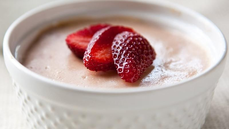 Slow-Cooker Strawberry Cheesecake for Two