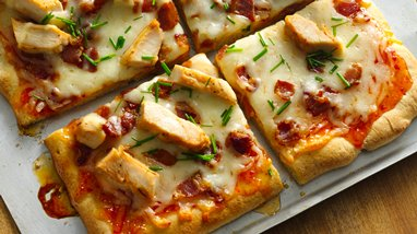 Bacon Asian Orange Chicken Pizza