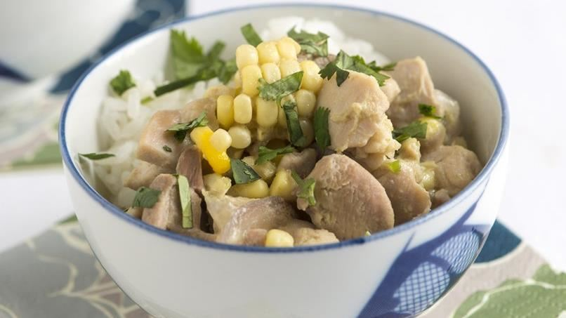 Thai Green Chicken and Corn Curry