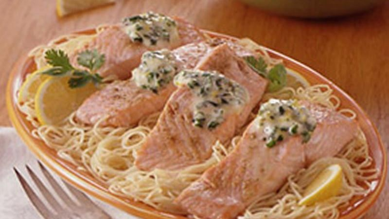 Baked Salmon with Cilantro