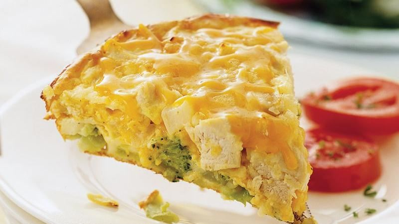 Impossibly Easy Chicken and Broccoli Pie