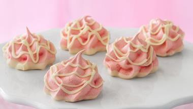 Cherry Meringue Puffs